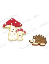 """Декоративные элементы """"Ёжик и грибы"""", дерево, 6-8 см, 2 шт, Knorr prandell (Германия)"""