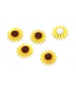 """Декоративные элементы """"Цветы подсолнуха"""", фетр, клеевое крепление, 2,0 см, 10 шт., Knorr prandell"""