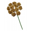 """Букет искусственных цветов """"Розочки золотистые"""", 1,5 см, 12 бутонов, Knorr Prandell (Германия)"""