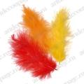 """Декоративные перья марабу, набор """"Оранжевый микс"""", 9 см, 15 шт., Knorr prandell (Германия)"""