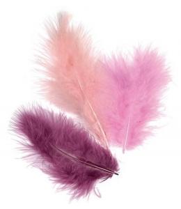 """Декоративные перья марабу """"Фиолетовый микс"""", 9 см, 15 шт., Knorr prandell (Германия)"""
