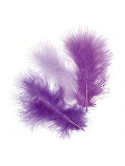 Декоративные перья марабу, набор Фиолетовый микс, 9 см, 15 шт., Knorr prandell
