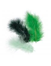 """Декоративные перья марабу """"Темно-зеленый микс"""", 9 см, 15 шт., Knorr prandell (Германия)"""