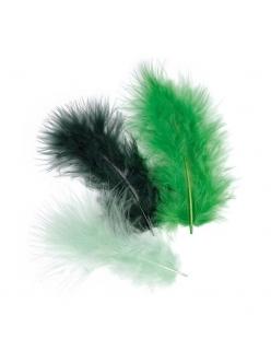 Декоративные перья марабу Темно-зеленый микс, 9 см, 15 шт., Knorr prandell