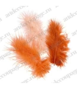 """Декоративные перья марабу """"Желто-оранжевый микс"""", 9 см, 15 шт., Knorr prandell (Германия)"""