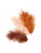 """Декоративные перья марабу """"Коричневый микс"""", 9 см, 15 шт., Knorr prandell (Германия)"""