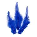 Перья петушиные синие, натуральное перо, 10 см, 16 шт., Knorr prandell (Германия)