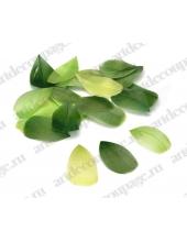 """Перья декоративные цветные """"Оттенки зеленого"""", натуральное перо, 5-10 см, 48 шт. в пакете, Knorr prandell (Германия)"""