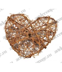 Венок Сердце, натуральная лоза, 20 см, Knorr Prandell (Германия)
