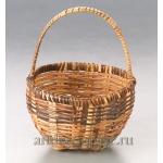 Корзинка миниатюрная плетеная из прутьев ротанга, 3,5х4 см, Knorr Prandell (Германия)