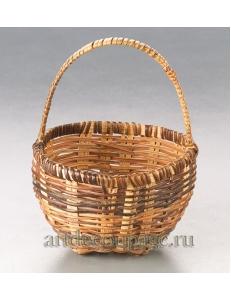 Корзинка миниатюрная плетеная из прутьев ротанга, 6х10 см, Knorr Prandell (Германия)