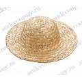 Соломенная шляпка миниатюрная 10 см, Knorr Prandell (Германия)