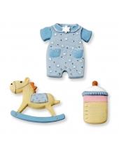 """Декоративные фигурки  """"Baby boy"""", полимерная смола, 2,5-3,5 см, 3 шт, Knorr prandell"""