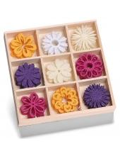 """Набор декоративных элементов из войлока """"Цветы"""", 45 шт, 22 мм, Knorr prandell"""