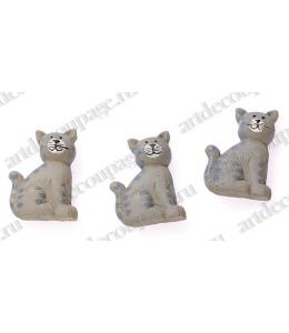 """Декоративные фигурки """"Кошки"""" с клеевым креплением, полимерная смола, 2,5 см, 6 шт, Knorr prandell"""