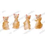 """Декоративные фигурки """"Кошки 2"""" с клеевым креплением, полимерная смола, 2,5 см, 4 шт, Knorr prandell"""