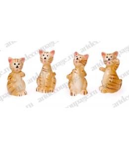 """Декоративные фигурки """"Кошки 2"""" с клеевым креплением, 2,5 см, 4 шт, Knorr prandell"""