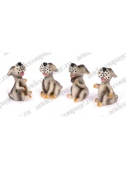 Декоративные фигурки Собаки с клеевым креплением, 4 шт, Knorr prandell