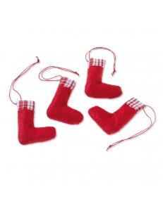 """Декоративные элементы """"Рождественский носок"""", ткань, 6 см, 4 шт., Knorr prandell"""