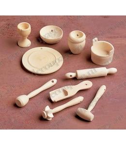 Декоративные миниатюрные кухонные приборы, дерево, 10 шт., Knorr prandell