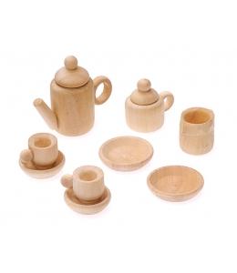 Декоративные элементы - миниатюрный кофейный сервиз, дерево, Knorr prandell