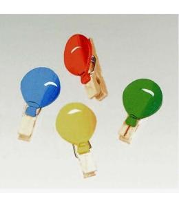 """Декоративные мини прищепки """"Воздушные шары"""", дерево, 3,5 см, 8 шт, Knorr prandell"""