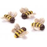 """Декоративные элементы """"Пчёлы"""",  полимерная смола, 2 см, 4 шт, Knorr prandell"""