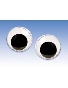 Глаза для игрушек круглые с подвижными зрачками 1,0 см, 2 штуки, Knorr prandell (Германия)