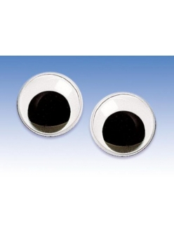 Глаза для игрушек круглые с подвижными зрачками 1,4 см, 2 штуки, Knorr prandell (Германия)