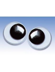 Глаза для игрушек круглые с подвижными зрачками 2,0 см, 2 штуки, Knorr prandell (Германия)