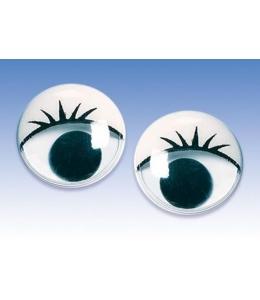 Глаза для игрушек подвижные, с ресницами 1,0 см, 14 шт., Knorr prandell (Германия)