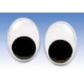 Глаза для игрушек овальные с подвижными зрачками 15х10 мм, 2 шт., Knorr prandell (Германия)