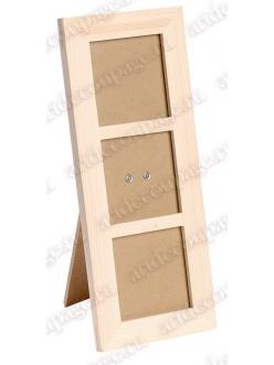 Заготовка рамка для трех фотографий со стеклом, 27х11,5х1,2 см, Knorr prandell