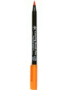 Акварельный маркер кисточка Koi 005, цвет оранжевый, SAKURA Япония