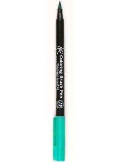 Акварельный маркер кисточка Koi 028, цвет зелено-голубой светлый, SAKURA Япония