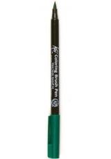 Акварельный маркер кисточка Koi 029, цвет зеленый, SAKURA Япония