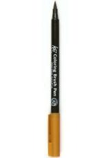 Акварельный маркер кисточка Koi 110, цвет темно-коричневый, SAKURA Япония