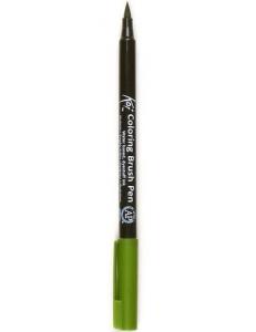 Акварельный маркер кисточка Koi 130, цвет болотный, SAKURA Япония