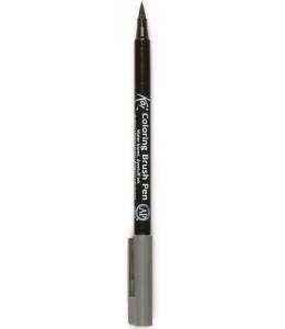 Акварельный маркер кисточка Koi 144, цвет серый теплый, SAKURA Япония