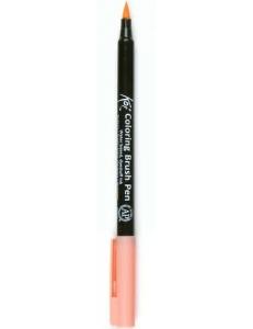 Акварельный маркер кисточка Koi 205, цвет коралловый, SAKURA Япония
