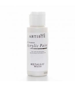 "Краска акриловая металлик Artiste 763106 ""Белый"", 59 мл, Docrafts (Великобритания)"