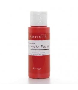 """Краска акриловая Artiste 763210 """"Rouge, красно-розовый"""", 59 мл, Docrafts (Великобритания)"""