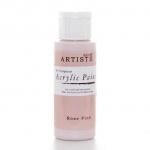 """Краска акриловая Artiste 763221 """"Розовый"""", 59 мл, Docrafts (Великобритания)"""