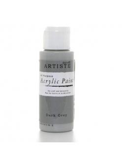 Краска акриловая Artiste 763258 Темно серый, 59 мл, Docrafts