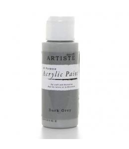 """Краска акриловая Artiste 763258 """"Темно-серый"""", 59 мл, Docrafts (Великобритания)"""