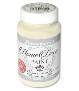 Краска на меловой основе Home Deco KAH02, цвет теплый белый, 110 мл, Stamperia
