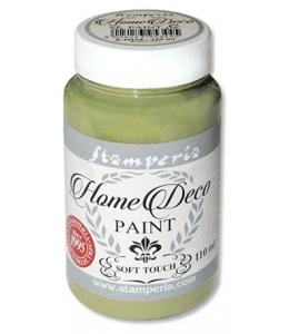 Краска на меловой основе Home Deco KAH07, цвет оливковый зеленый, 110 мл, Stamperia