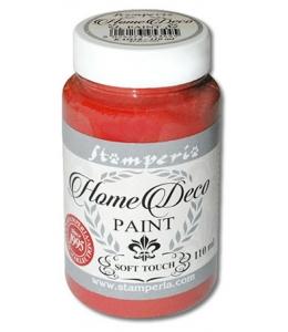 Краска на меловой основе Home Deco KAH19, цвет тылый красный, 110 мл, Stamperia