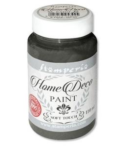 Краска на меловой основе Home Deco KAH24, цвет черный, 110 мл, Stamperia