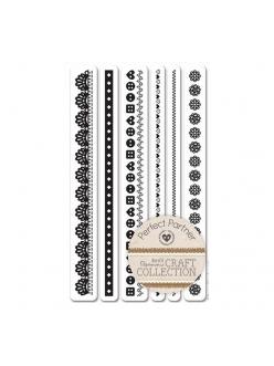Набор резиновых штампов Бордюры, Craft Collection, 6 шт., DoCrafts